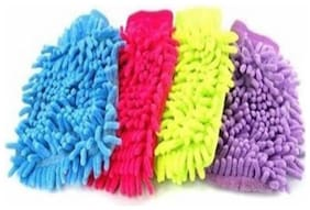 Microfiber Glove for Cleaning Washing (PACK OF 4)