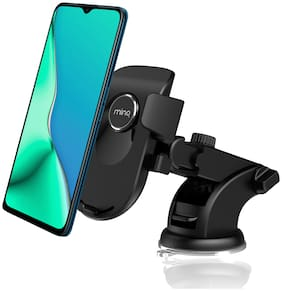 MINQ One Touch Dashboard & Windshield Car Mount Adjustable Car Phone Holder for Smartphones