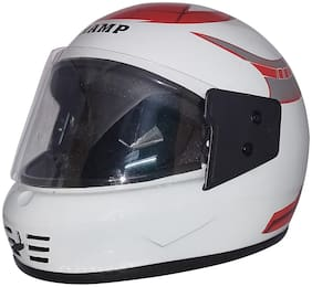 MOB2SHO.IN White Glossy Clear Full Face Helmet KimiRed