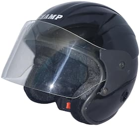 MOB2SHOP.IN TF_Black Glossy Clear Open Face Helmet