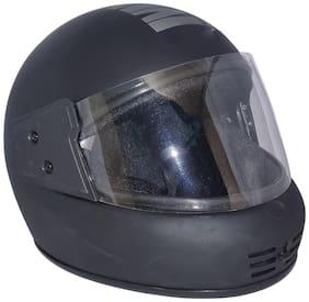 MOB2SHOP.IN Black Matt Clear Full Face Helmet