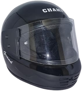 MOB2SHOP.IN Black Glossy Clear Helmet