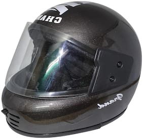 MOB2SHOP.IN Grey Glossy Tinted Full face Helmet