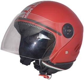 MOB2SHOP.IN Open face helmet for women;men (Red Matt;size 58 cm;ISI)