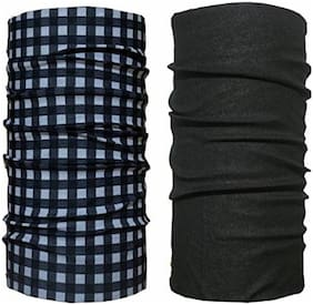 Mobidezire Black & Check Bandana Assorted Color & Stylish For Unisex(Set-2)