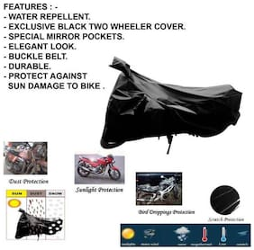 Mobidezire Dust And Mist Resistance Black Bike Body cover Below To 150 CC For Honda DIO