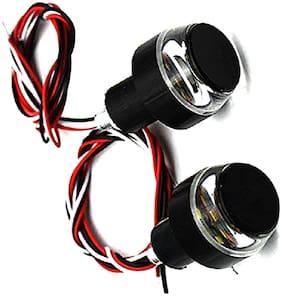 Mobidezire Handle Grip LED Light for Both side Bike Handle (1 pair Blue & White Light) For Splendor Plus