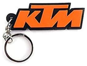 mobidezire Premium Quality Rubber KTM  Logo Key Chain for Bike Lover (Set of 2)