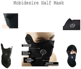 Mobidezire Riding Bike Half Cover Face Biker/rider mask Size : Free (Black, Pack of 1)