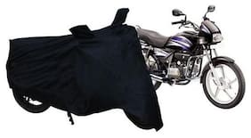 MOBIDEZIRE TWO WHELLER BLACK BIKE BODY COVER WITH FREE (polution mask)