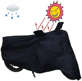 MOBIDEZRE BLACK BIKE TWO WHEELER COVER FOR HONDA SUPER CUB  [FREE] MASK+ARM SLEEVE
