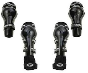 Morelife Axo Riding Gear Elbow & Knee Guard Black Color-Set Of 4 Pc