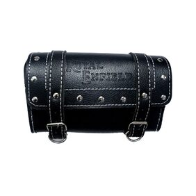 Morelife Black Customize Side Saddle Bag With Fancy Button For Royal Enfield Bullet
