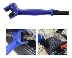 Motorcycle & Bike Chain-Cleaning Tool Durable with Multi- Purpose Cycling Chain Cleaner Brush for All Type Chain-Gears (Blue)