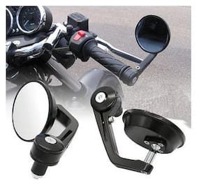 Motorcycle Rear View Mirrors Handlebar Bar End Mirrors ROUND FOR TVS STAR CITY