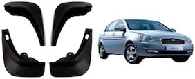 MotorMart MudFlaps For Hyundai VERNA {TYPE 1}(Old)
