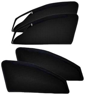 Motormart Side Window Rear Window Sun Shade For Hyundai i10 (Black)