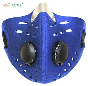 Mototrance Anti-pollution Half Face Mouth-muffle Dust Face Mask Specially for Bike Riders - Blue