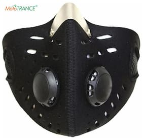 Mototrance Anti-pollution Half Face Mouth-muffle Dust Face Mask Specially for Bike Riders - Black