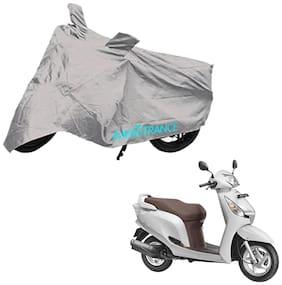 Mototrance Bike Body Cover For Honda Aviator (Silver)