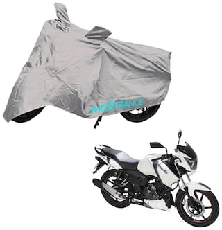 Mototrance Bike Body Cover For TVS Apache RTR 160 (Silver)