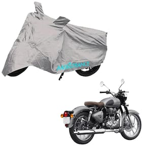 Mototrance Bike Body Cover For Royal Enfield Classic 500 (Silver)