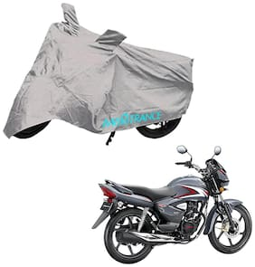 Mototrance Bike Body Cover For Honda CB Shine (Silver)