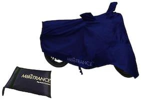 Mototrance Blue Bike Body Cover For Hero HF Deluxe Eco