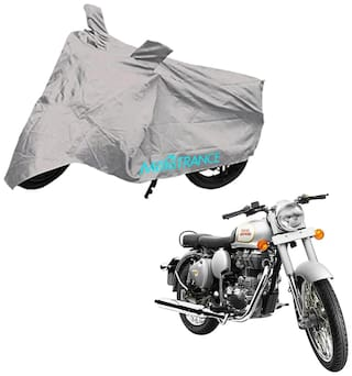 Mototrance Bike Body Cover For Royal Enfield Classic 350 (Silver)