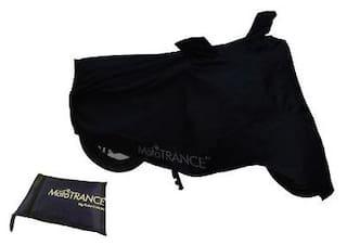 Mototrance Black Bike Body Cover For Hero HF Deluxe Eco