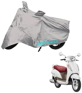 Mototrance Bike Body Cover For Suzuki Access 125 (Silver)
