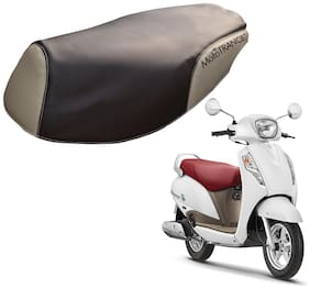 Mototrance PU Leather Designer Bike Scooter Seat Cover (MTSC-302-BRBE) for Suzuki Access 125