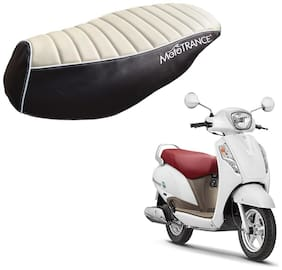 Mototrance PU Leather Designer Bike Scooter Seat Cover (MTSC-301-BEBR) for Suzuki Access 125