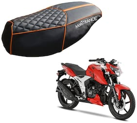 Mototrance PU Leather Designer Bike Scooter Seat Cover (MTSC-303-BLOR) for TVS Apache RTR 160