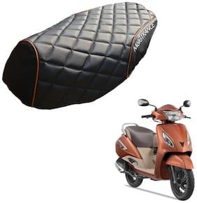 Mototrance PU Leather Designer Bike Scooter Seat Cover (MTSC-304-BLOR) for TVS Jupiter