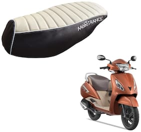 Mototrance PU Leather Designer Bike Scooter Seat Cover (MTSC-301-BEBR) for TVS Jupiter