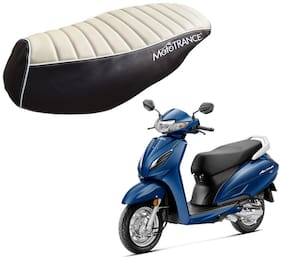 Mototrance PU Leather Designer Bike Scooter Seat Cover (MTSC-301-BEBR) for Honda Activa 125
