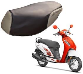 Mototrance PU Leather Designer Bike Scooter Seat Cover (MTSC-302-BRBE) for Honda Activa i