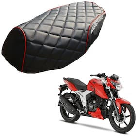 Mototrance PU Leather Designer Bike Scooter Seat Cover (MTSC-304-BLRD) for TVS Apache RTR 160