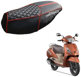Mototrance PU Leather Designer Bike Scooter Seat Cover (MTSC-303-BLRD) for TVS Jupiter