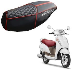 Mototrance PU Leather Designer Bike Scooter Seat Cover (MTSC-303-BLRD) for Suzuki Access 125