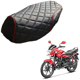 Mototrance PU Leather Designer Bike Scooter Seat Cover (MTSC-304-BLRD) for Hero Passion Pro