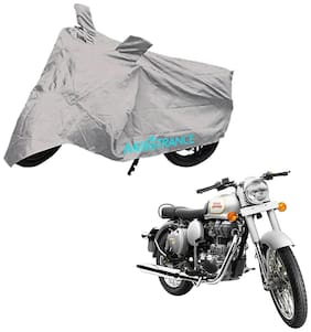 Mototrance Silver Bike Body Cover For Royal Enfield Classic 350