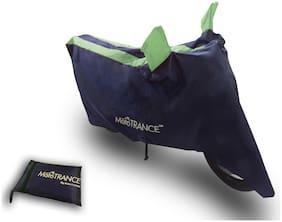 Mototrance Sporty Arc Blue Green Bike Body Cover For LML Freedom LS