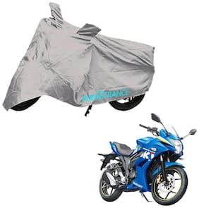Mototrance Silver Bike Body Cover For Suzuki Gixxer SF
