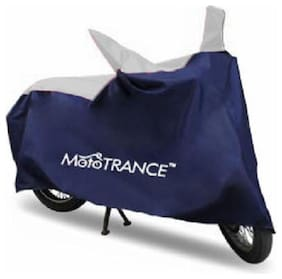 Mototrance Sporty Blue Bike Body Cover For Royal Enfield Classic 500