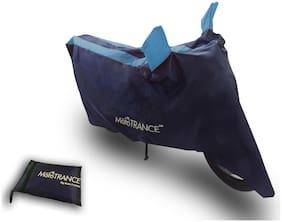 Mototrance Sporty Arc Blue Aqua Bike Body Cover For Hero HF Deluxe Eco