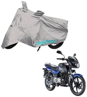 Mototrance Silver Bike Body Cover For Bajaj Pulsar 150