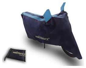 Mototrance Sporty Arc Blue Aqua Bike Body Cover For Bajaj V15