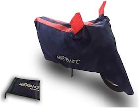 Mototrance Sporty Arc Blue Orange Bike Body Cover For TVS XL 100